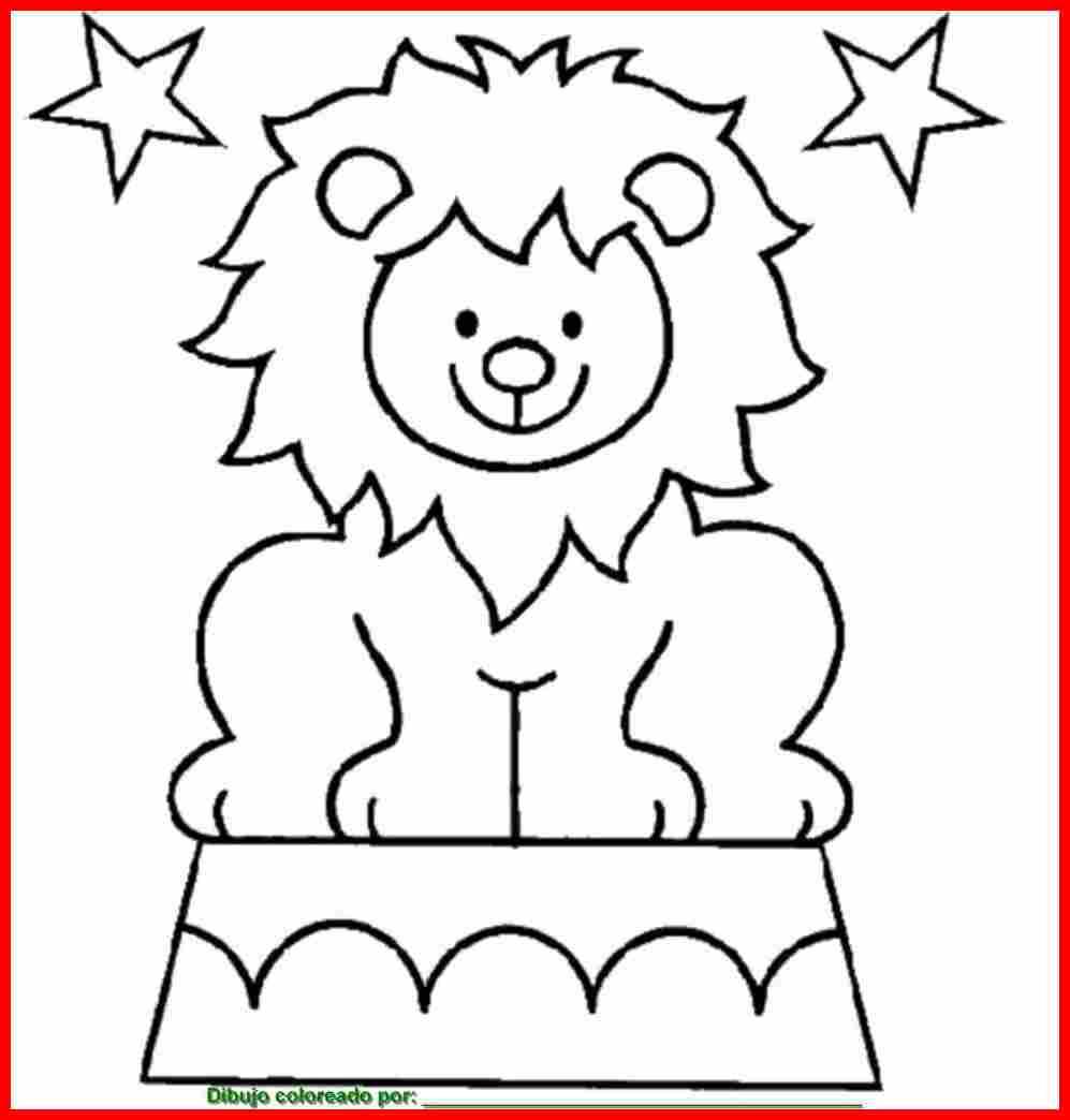 Dibujo de leones para colorear e imprimir - Dibujos en la pared infantiles ...