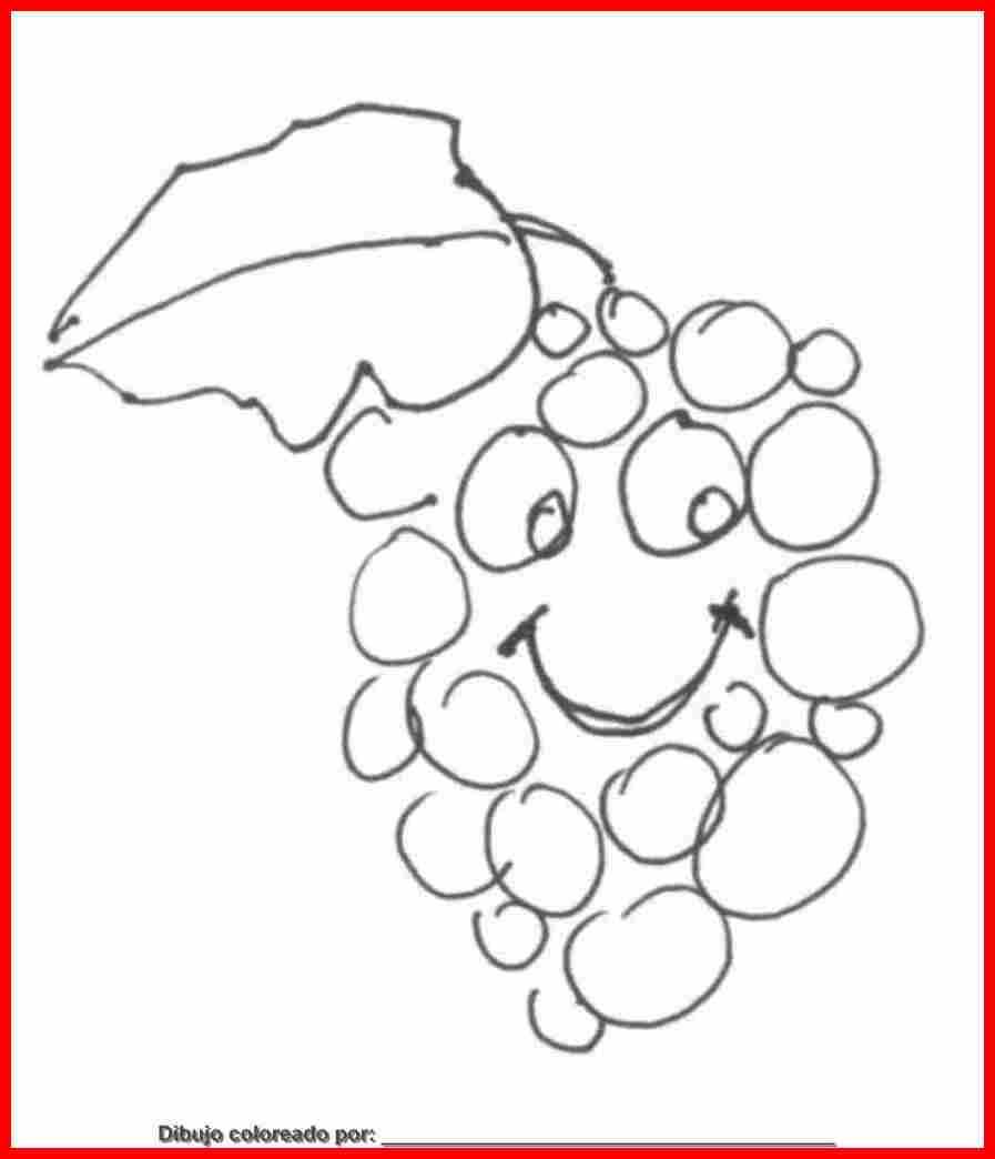 Dibujo De Frutas  Uvas Para Colorear  Imprimir Y Pintar Sobre Papel